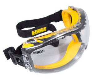 Dewalt DPG82-11C Concealer Clear Anti-Fog Dual Mold Safety Goggl